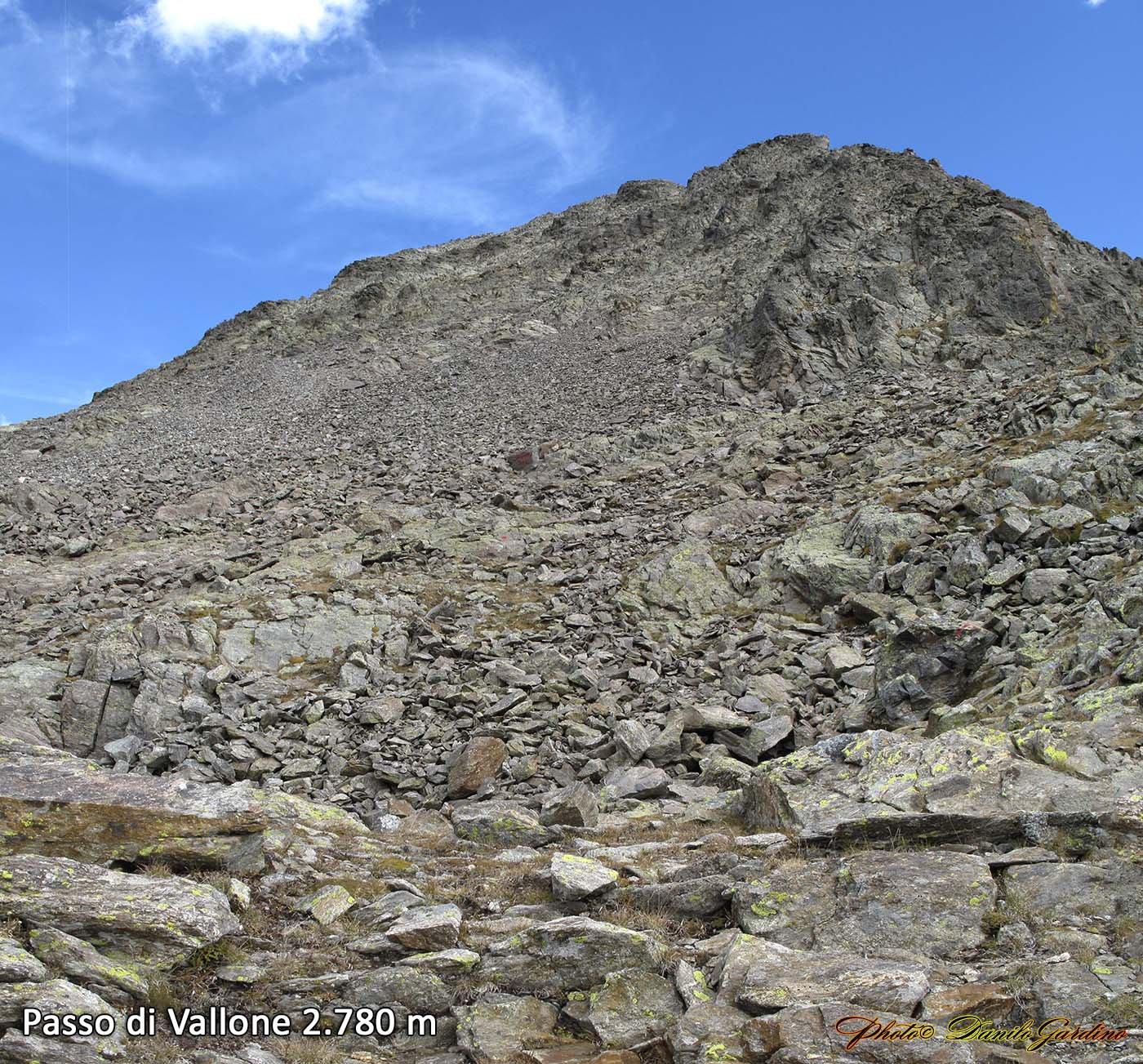 Il Becco alto del Piz visto dal Passo di Vallone