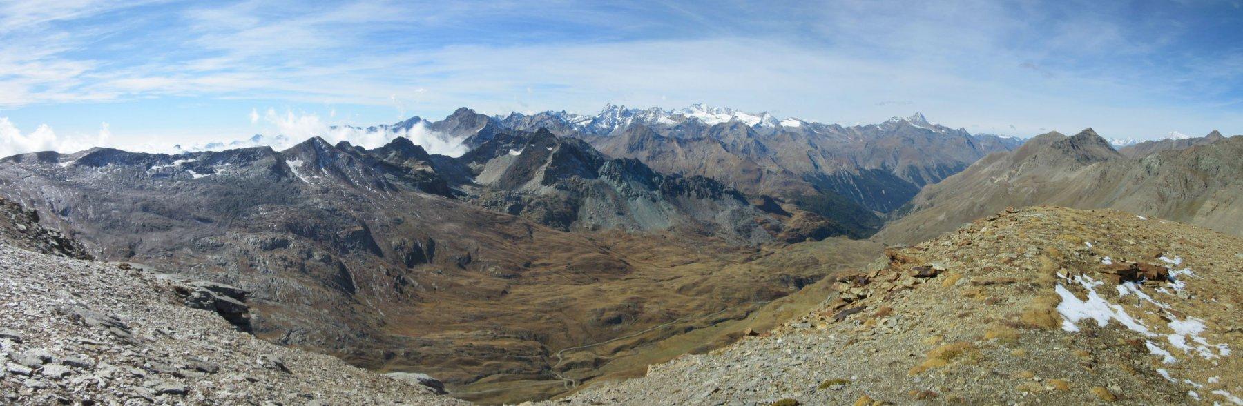 Panorama dalla vetta vallone dell'Urtier