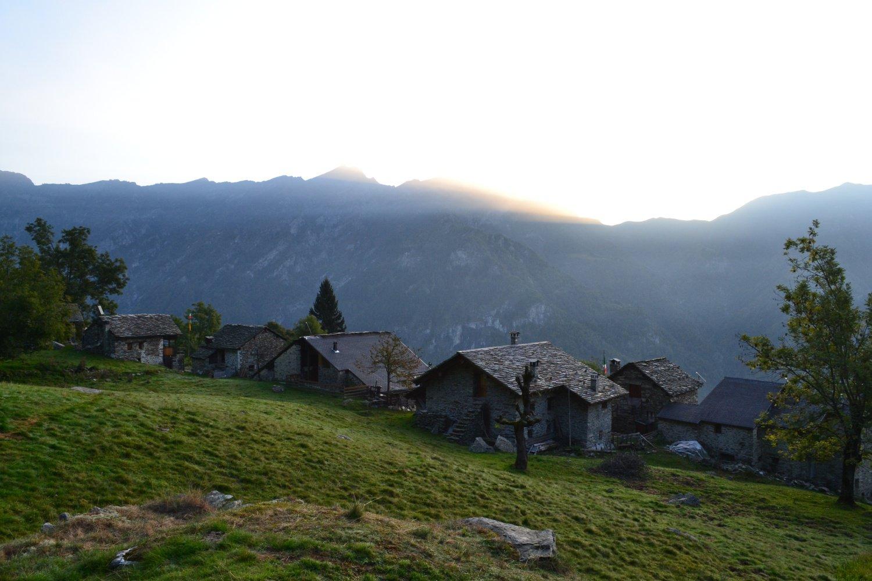 appena oltrepassata l'Alpe Cangello (1364 m)