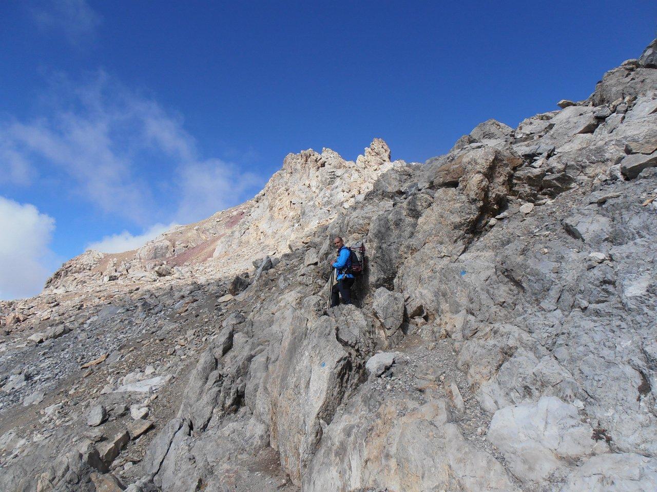 06 - passaggi su rocce montonate prima delle roccette finali