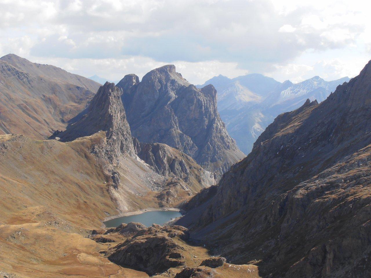 04 - Gran Lac e Aretes de la Bruyere visti dal Col de Sollieres