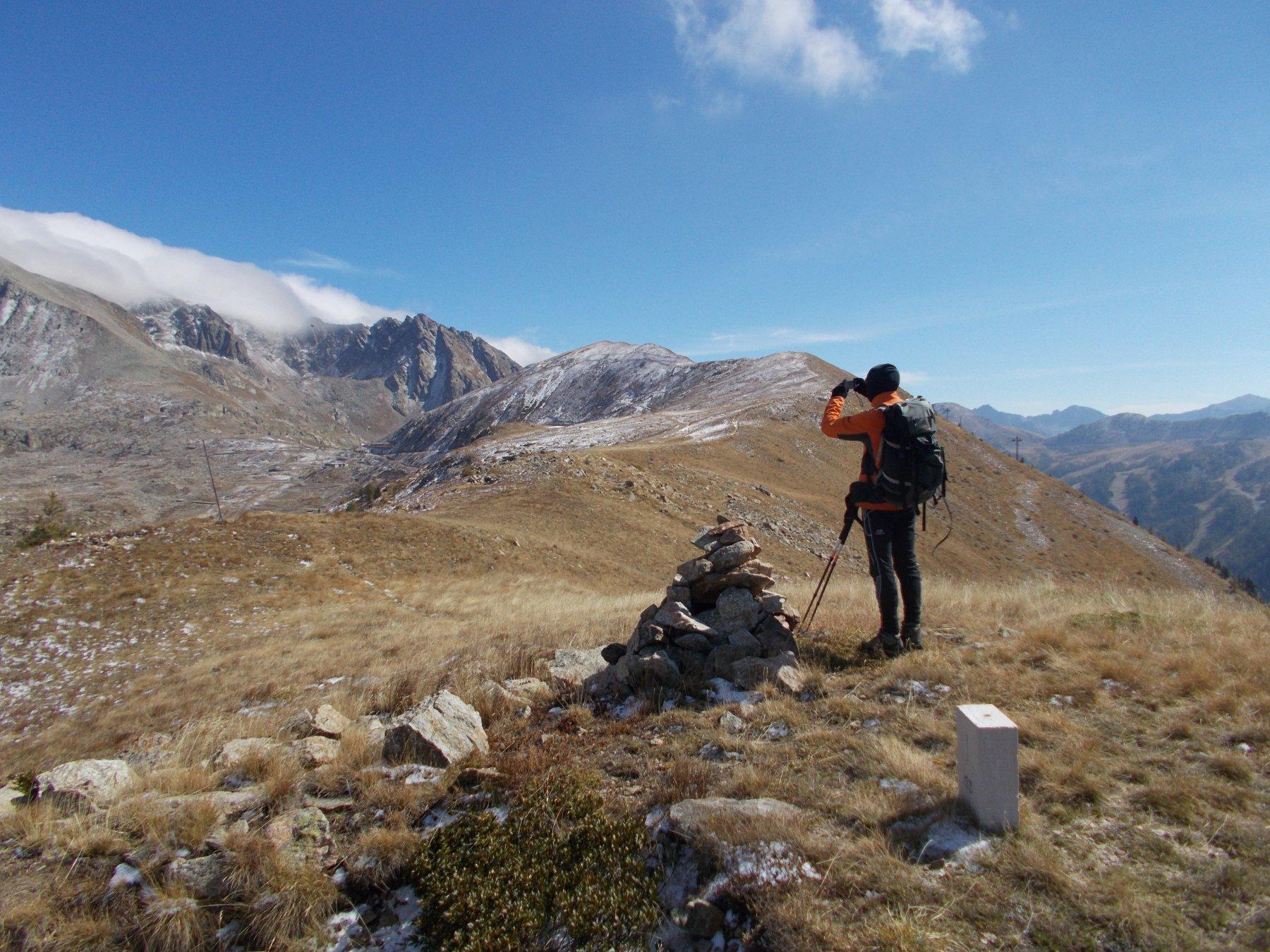 Dalle Teste di Las Planas..verso il Colle della Lombarda..