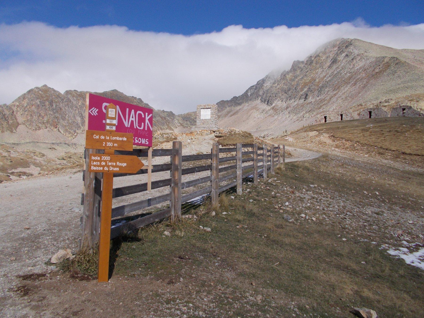 al Colle della Lombarda..dove ha termine la traversata..