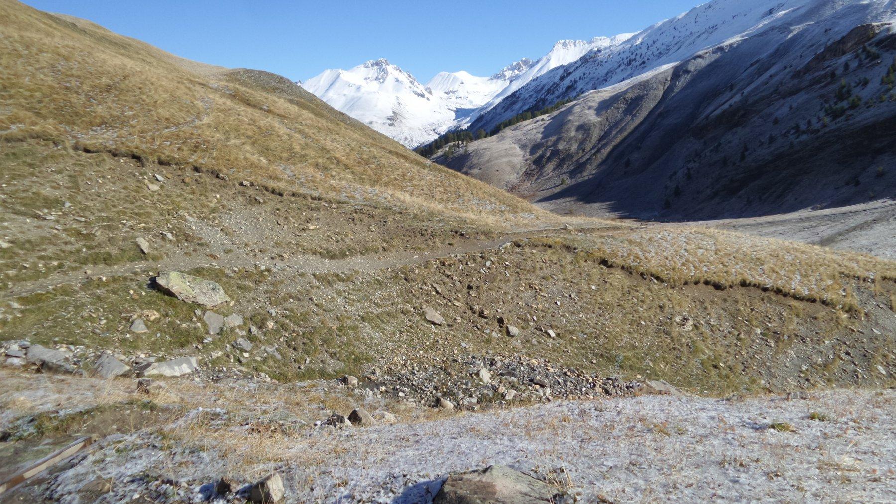 risalendo la prima parte della Val Fourane (4-10-2015)