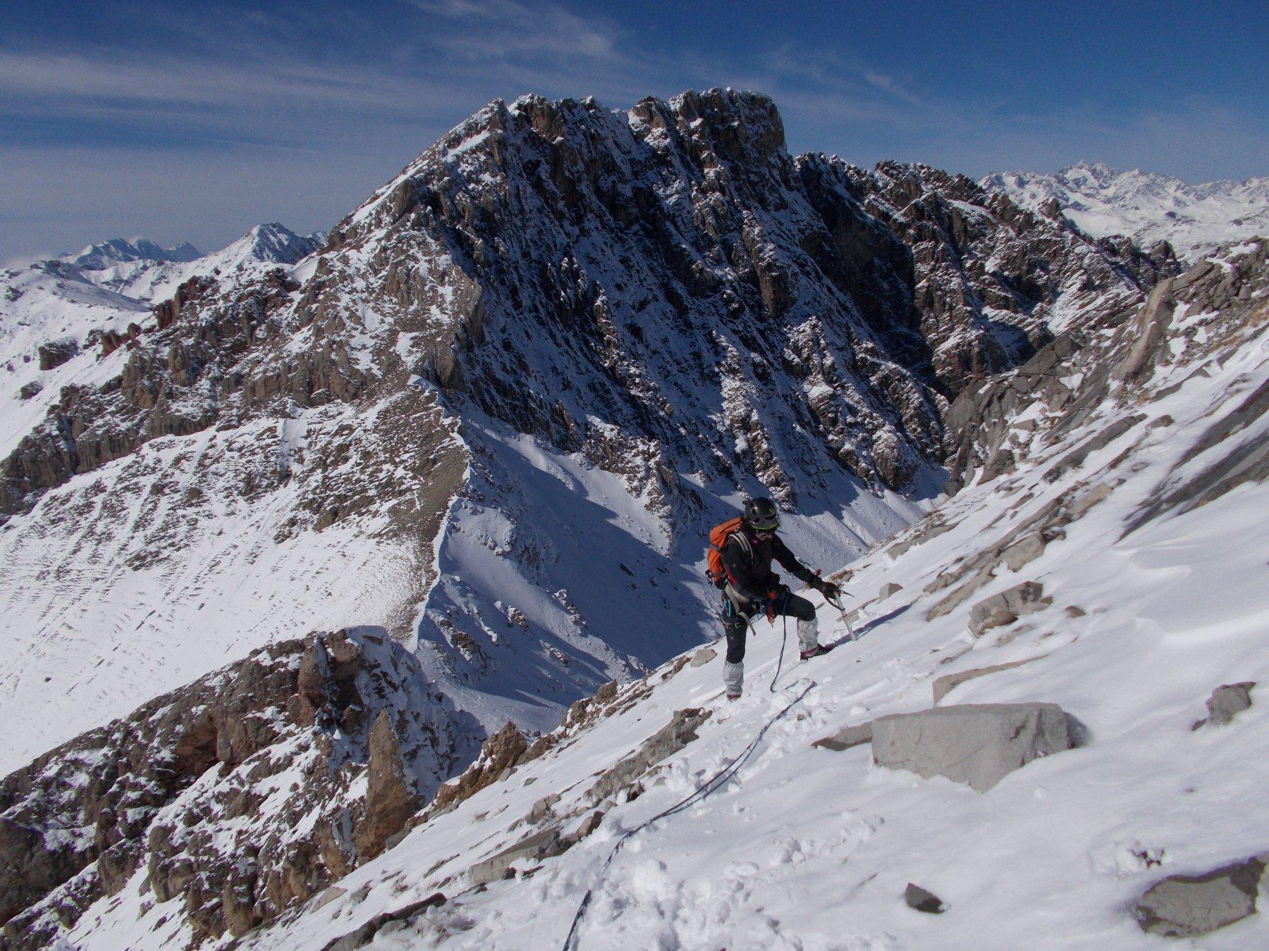 La Crete des Granges..in basso il Col de Peygus..