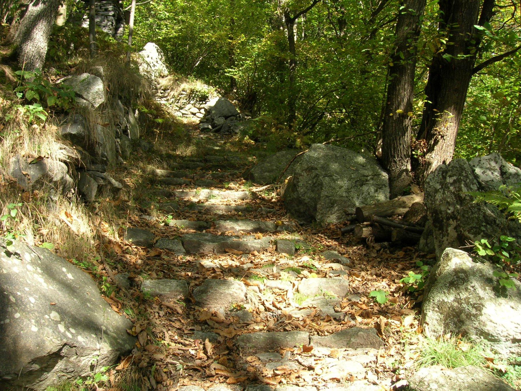 Vonzo-Chialamberto: la scalinata infinita..