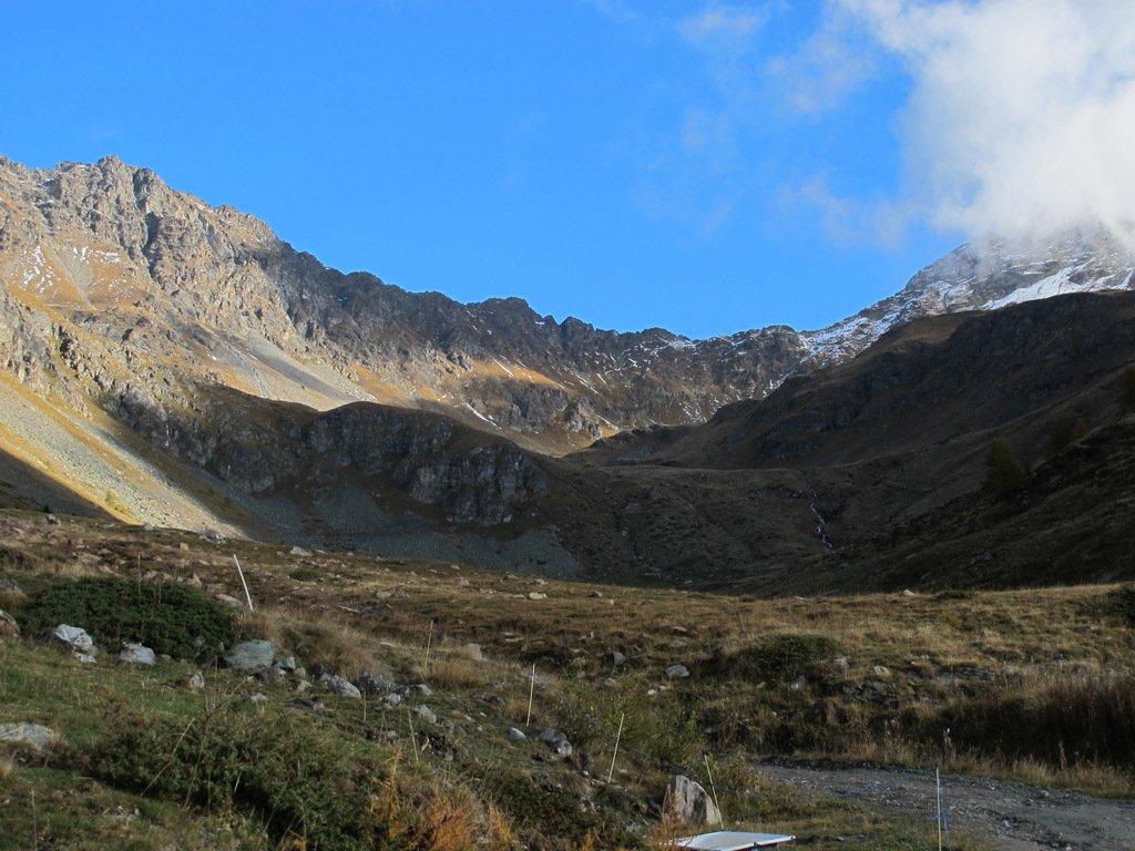 Il vallone nei pressi dell'Alpe Seyvaz