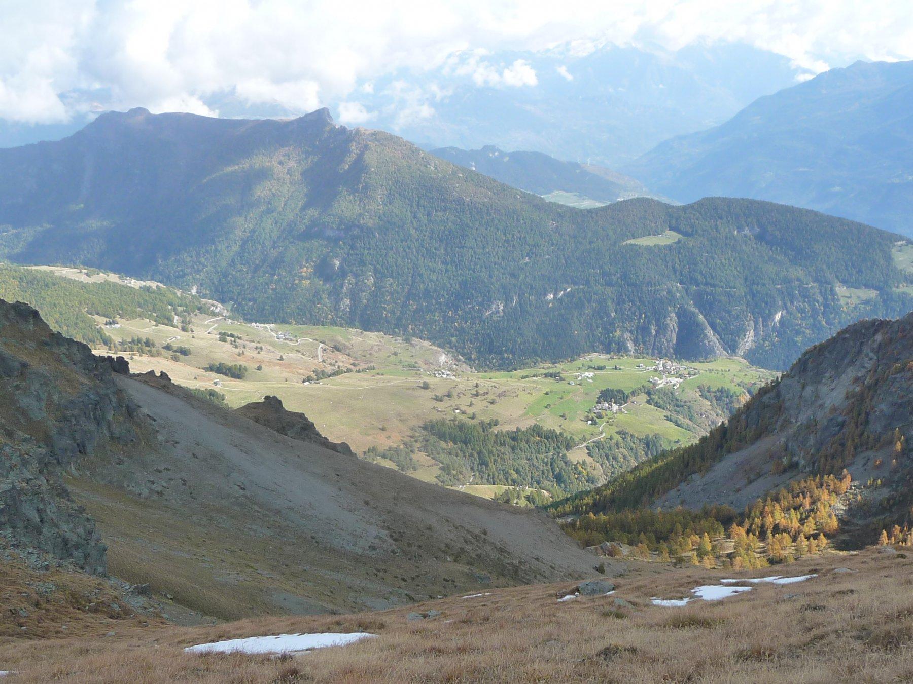 sguardo verso la valle di St. Barthelemy