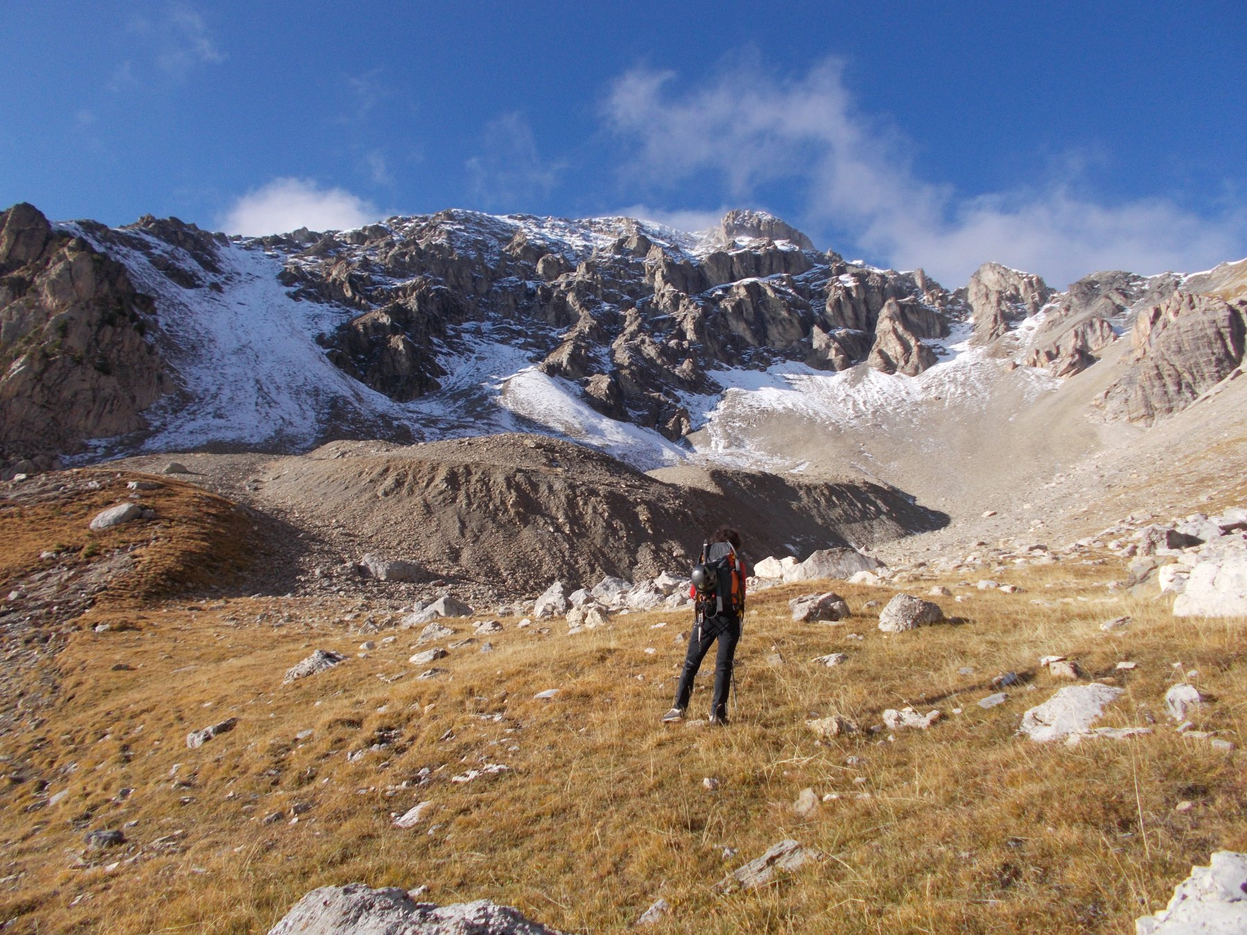 Salendo al Pic de Peyre Eyraute dalla Comba omonima..