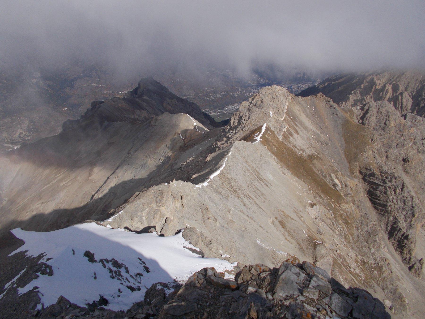 tutta la cresta al Pic de Jean Rey dal Pic de Peyre Eyraute..