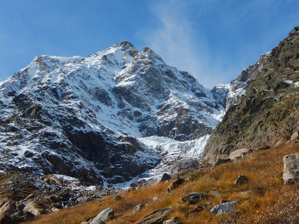 La Nordend, lo Jagerhorn e il ghiacciaio del Piccolo Fillar