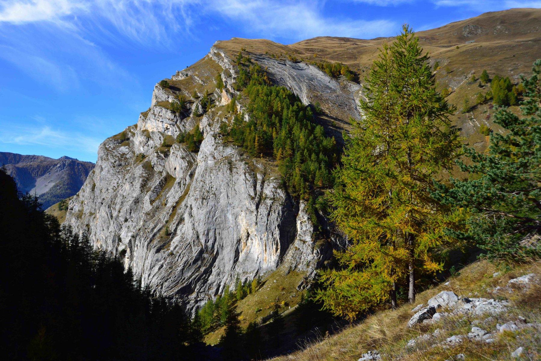 Il M.Bersaio visto dalla parte superiore del vallone della Madonna