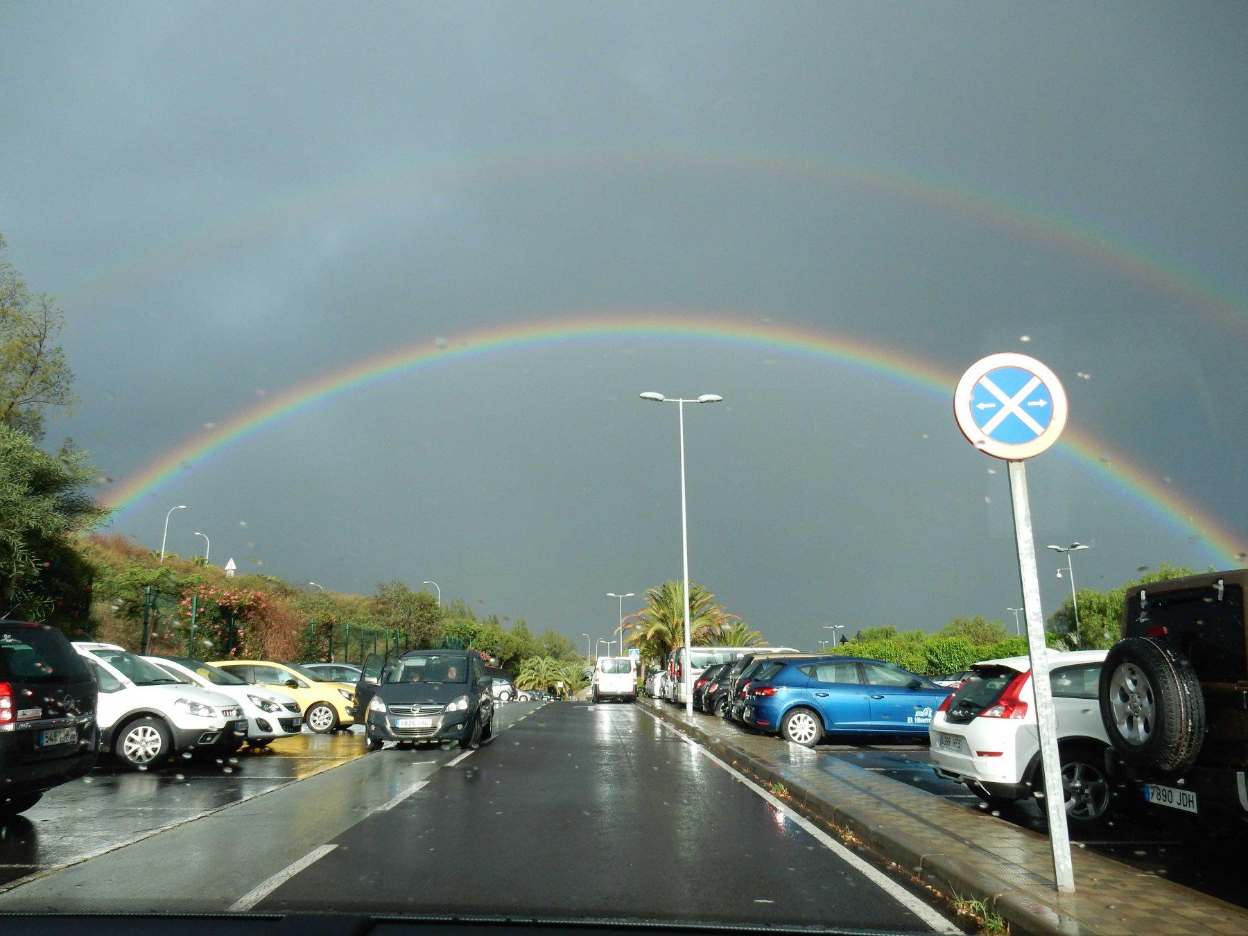 Arcobaleno a Tenerife.
