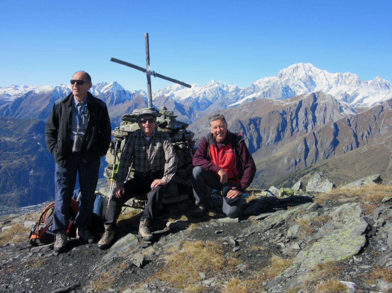 Gianni, Pier Albino e Sergio sulla Punta Fetita