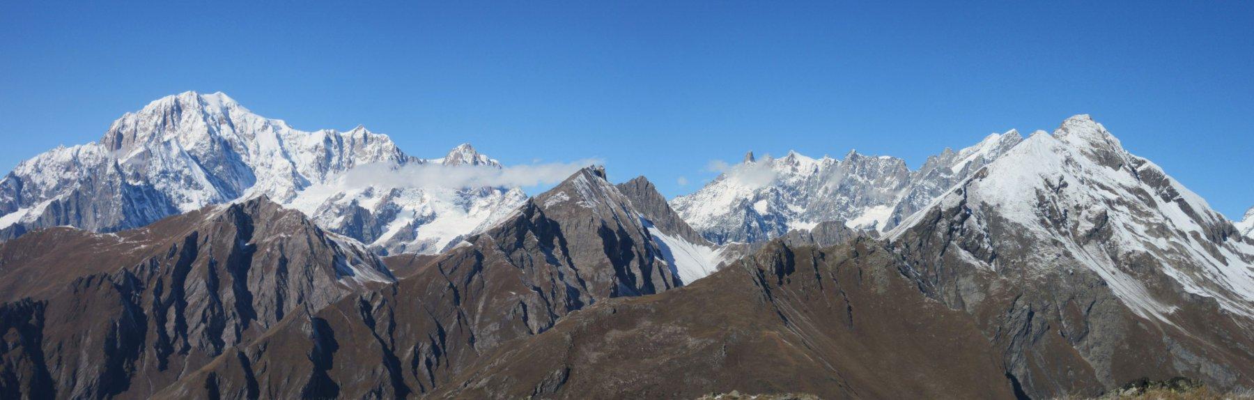 Monte Bianco, Dente del Gigante, Gran Jorasses e Gran Rochere