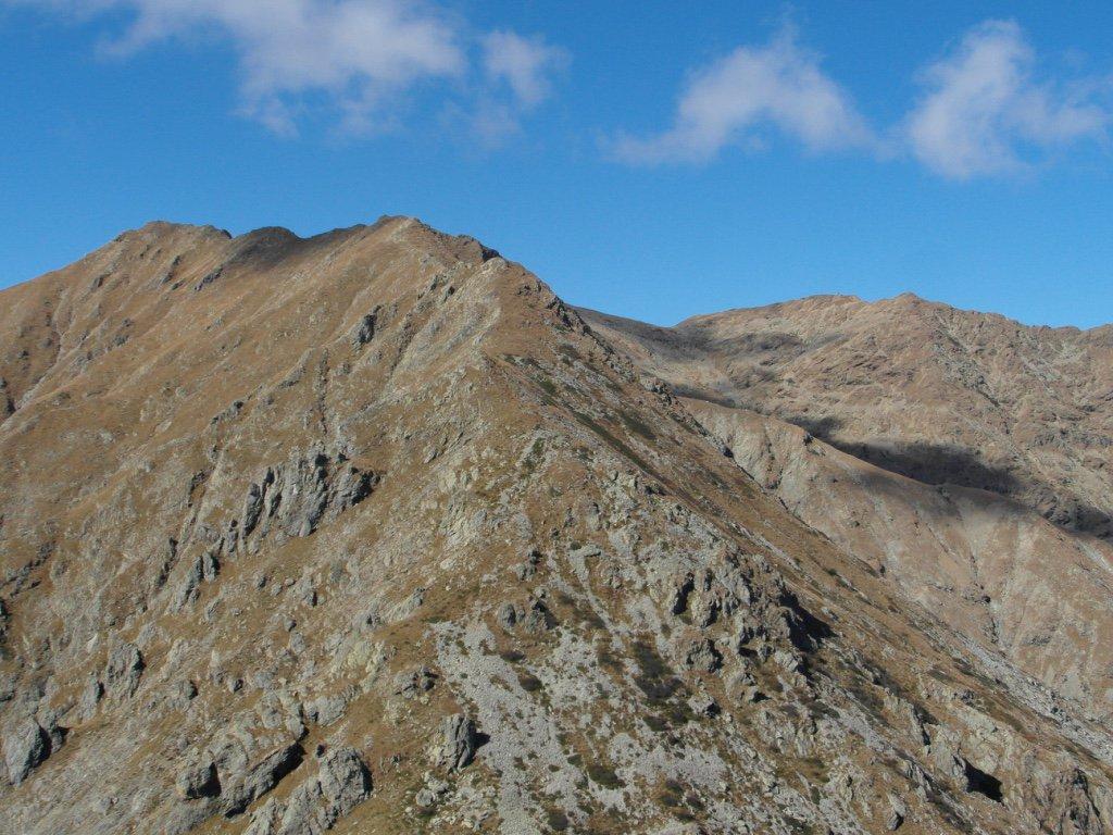 Punta Imperatore e Punta della Croce dalla cima.