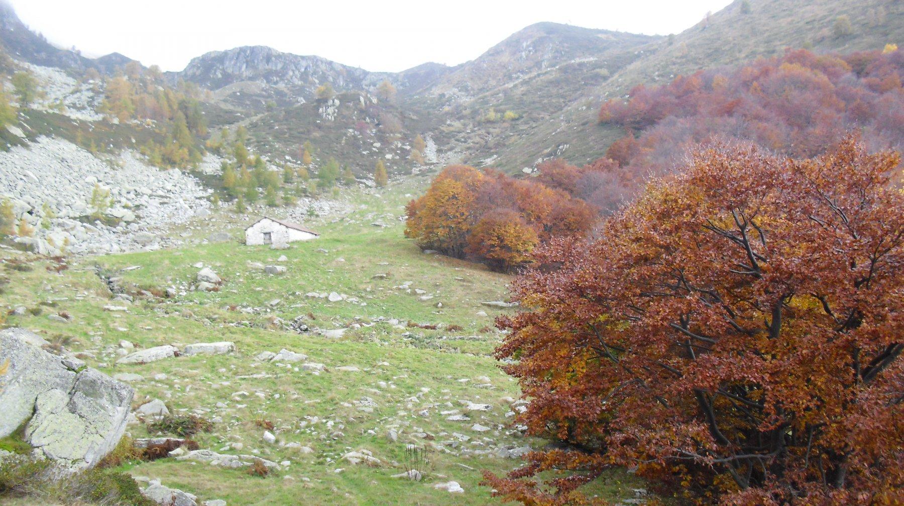 Il vallone visto dalla chiesetta.