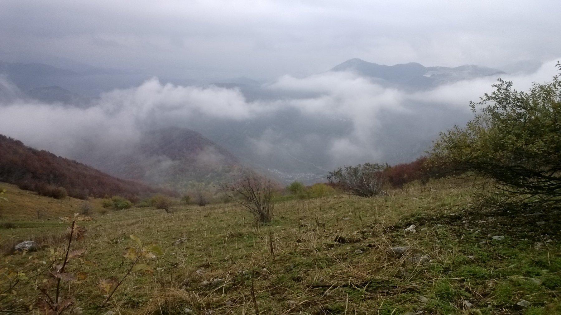 Panorama su Roaschia da sotto al passo del Van