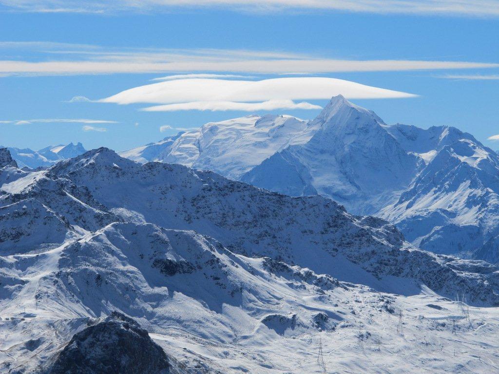 Sullo sfondo Mont Pourri