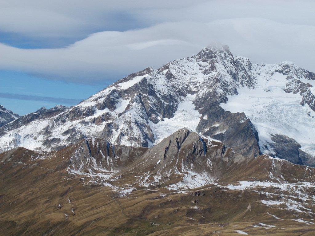 Aiguille de Bionassey e davanti in basso Mont Fortin