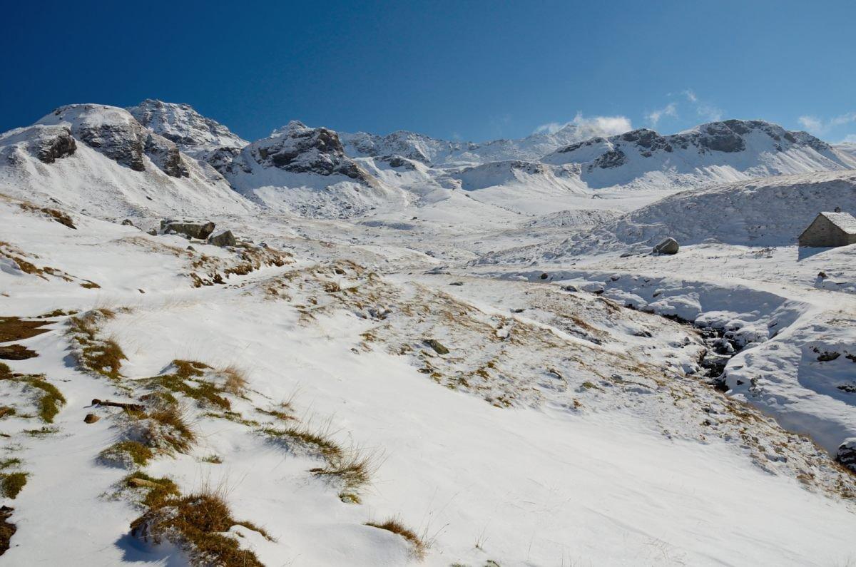 Nei pressi dell'Alpe Forno, sguardo verso le cime di confine con la Formazza