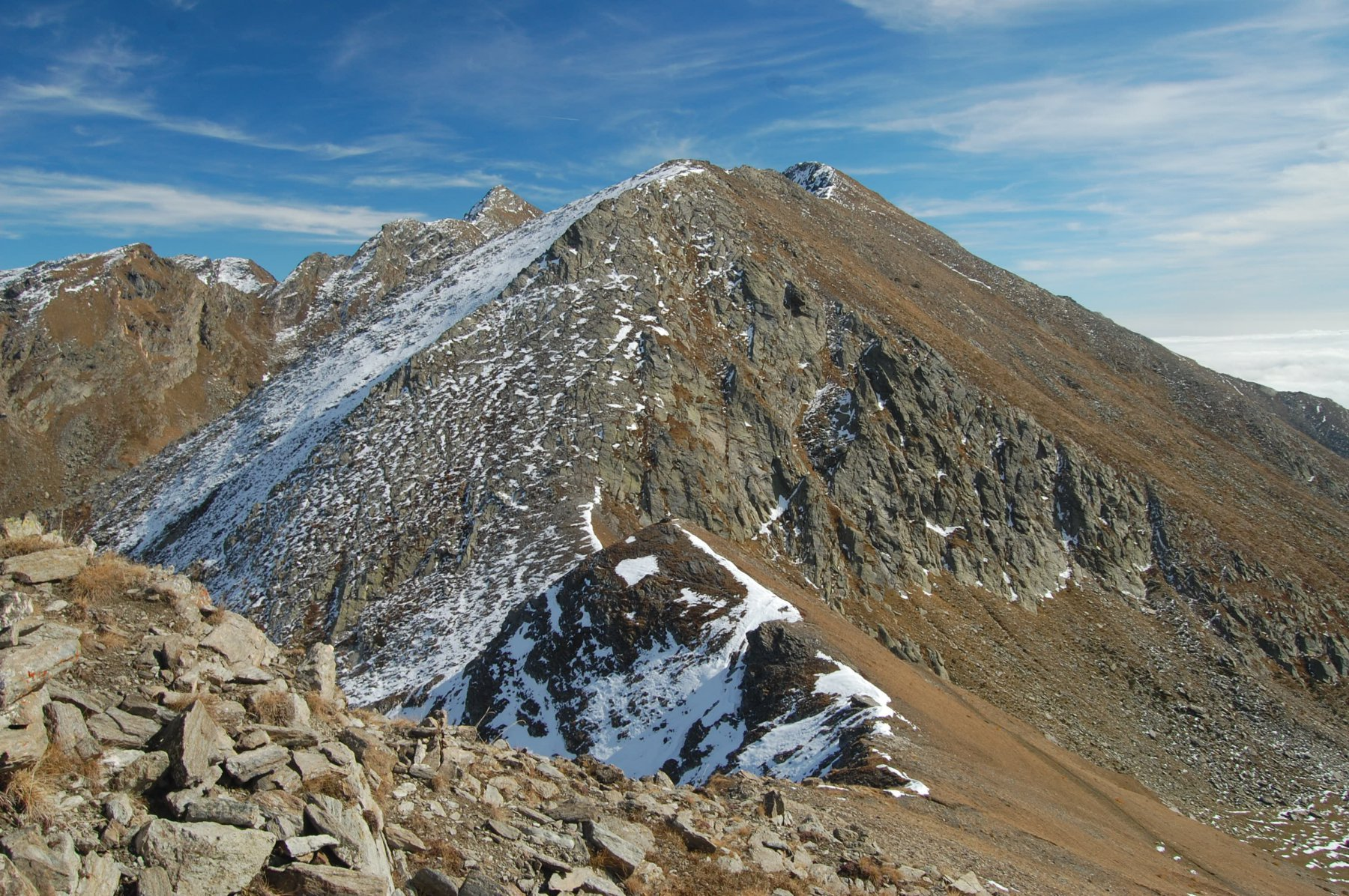 cresta di salita del monte giulian