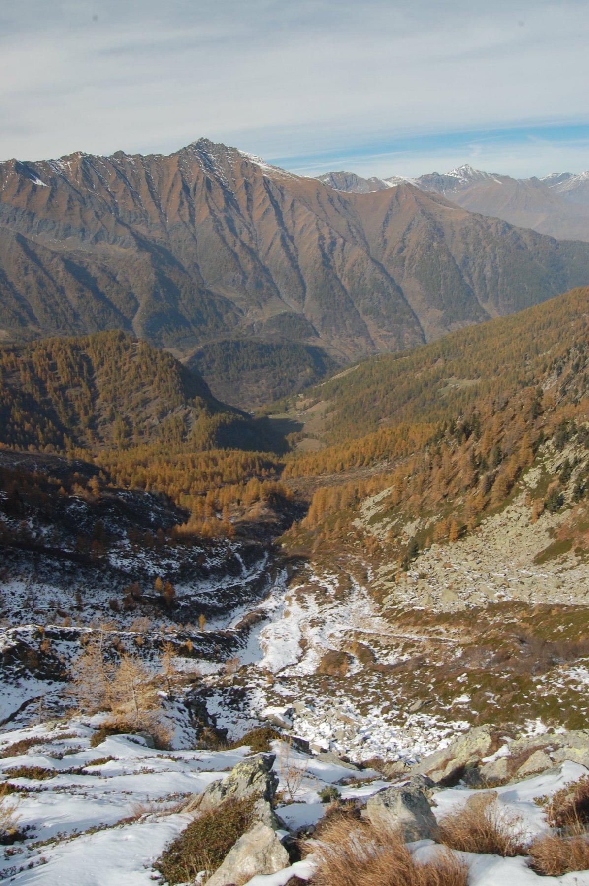 vallone delle miniere visto dall'alto