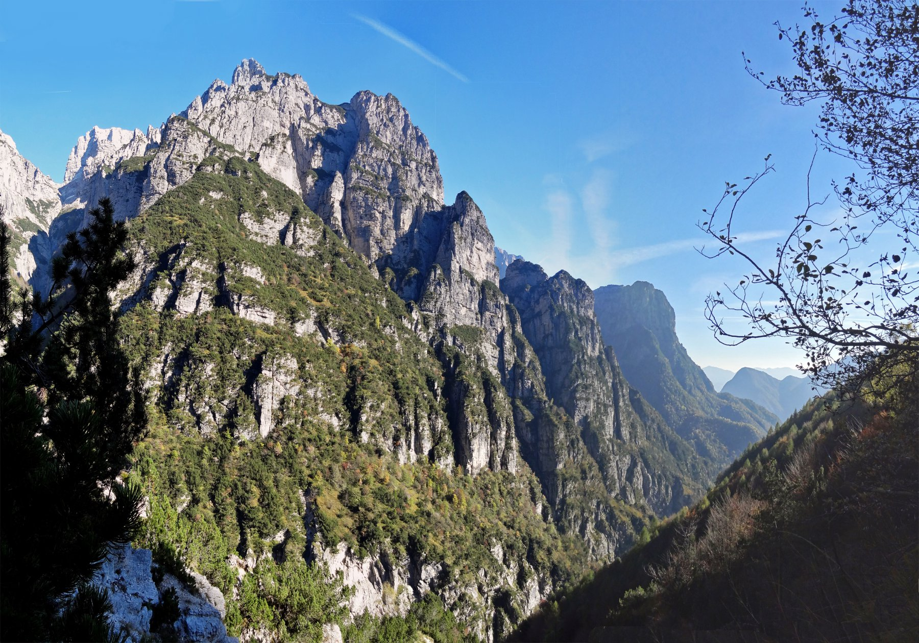 Ferùch (Cima est dei) Via normale dal Lago del Mis 2015-10-22