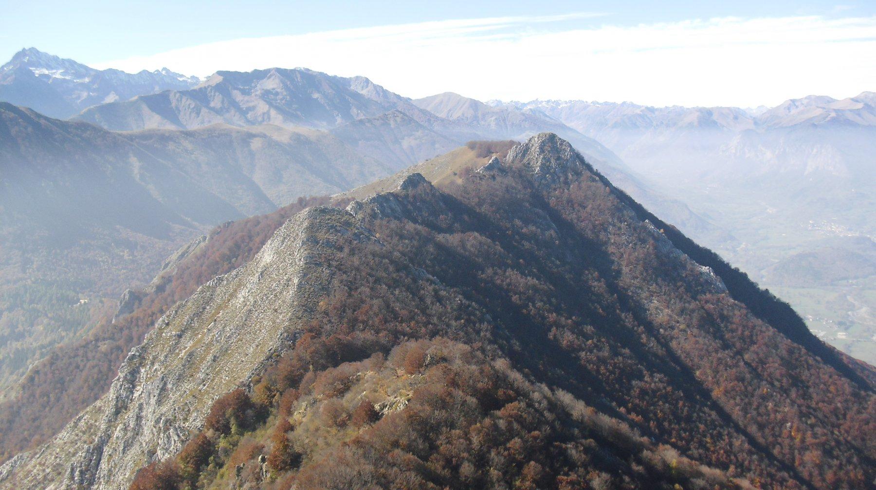 La cresta percorsa vista dalla Saben.