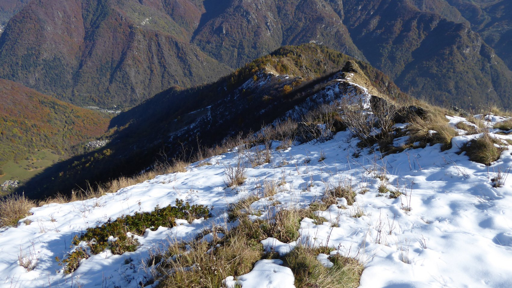 Cresta di discesa dall'Uja d'Ingria