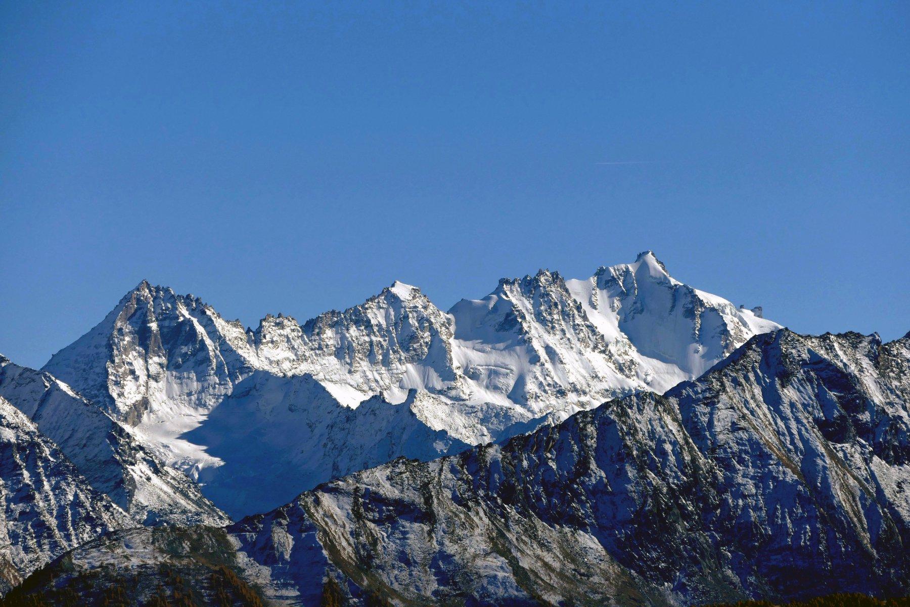 Gran Paradiso dall'alpeggio Chambave (23-10-15)