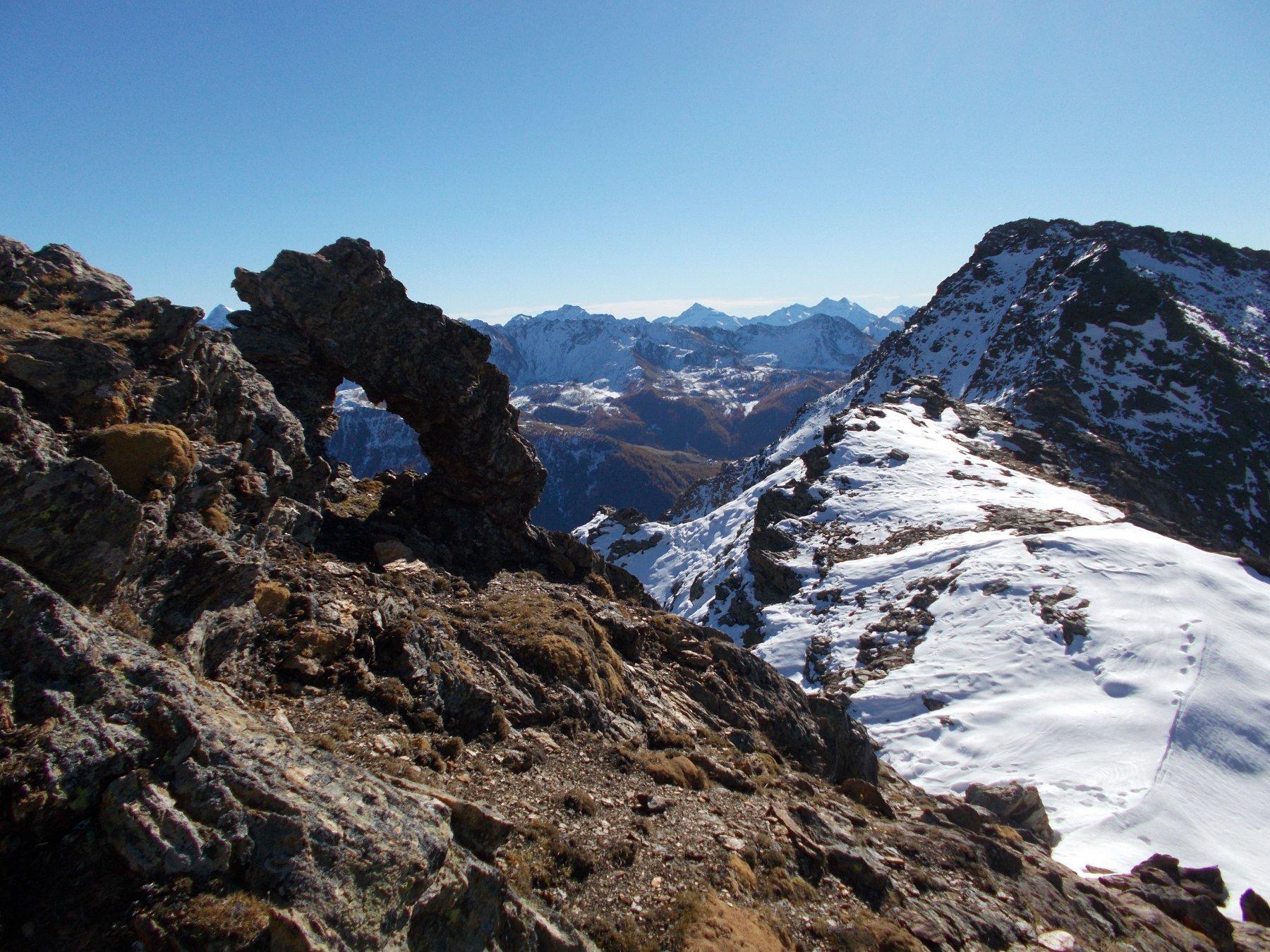 foro caratteristico..sulla cresta sud-est alla Becca di Sale'..