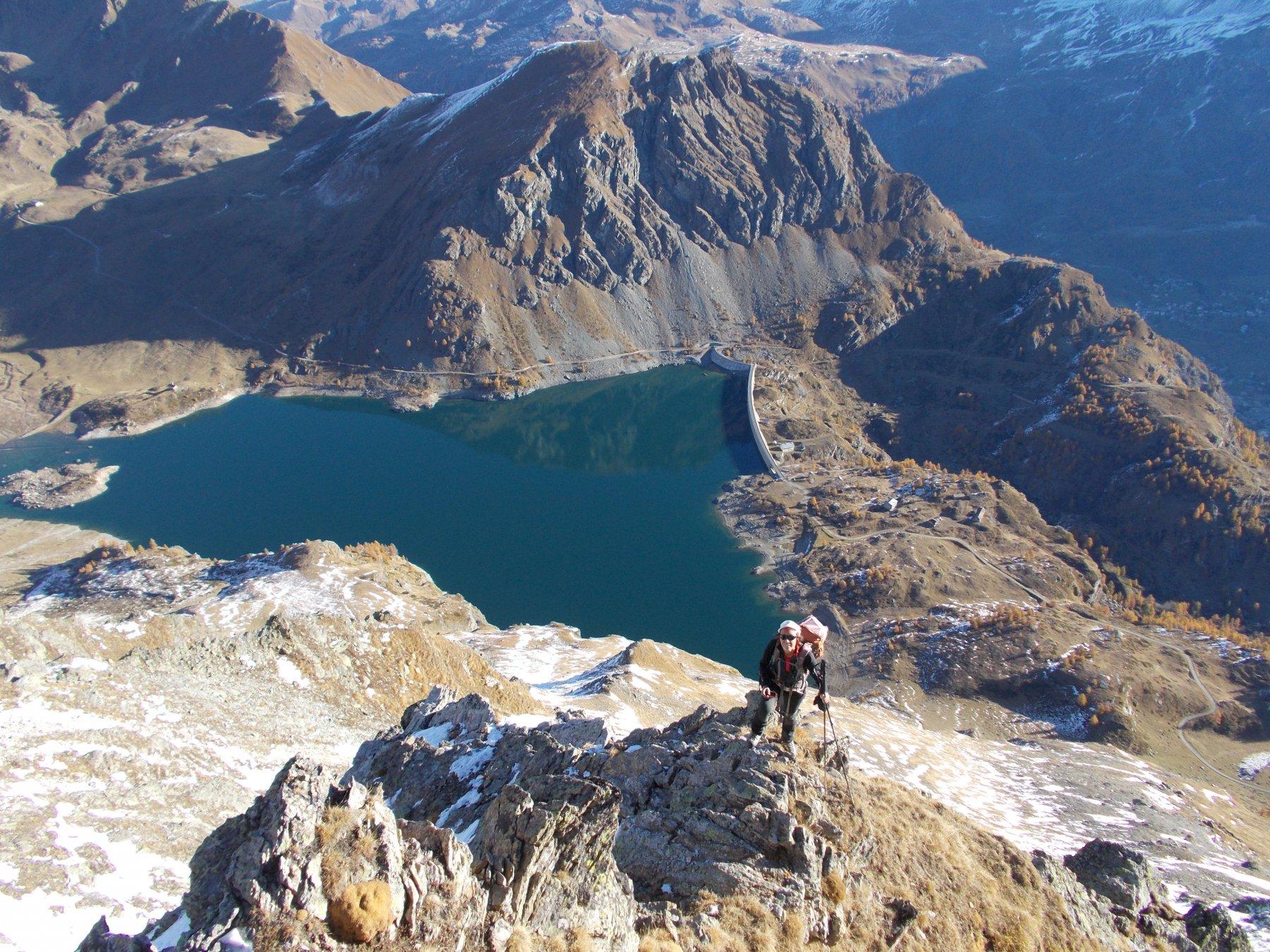 Il Lago di Cignana..salendo al M.Saleron..