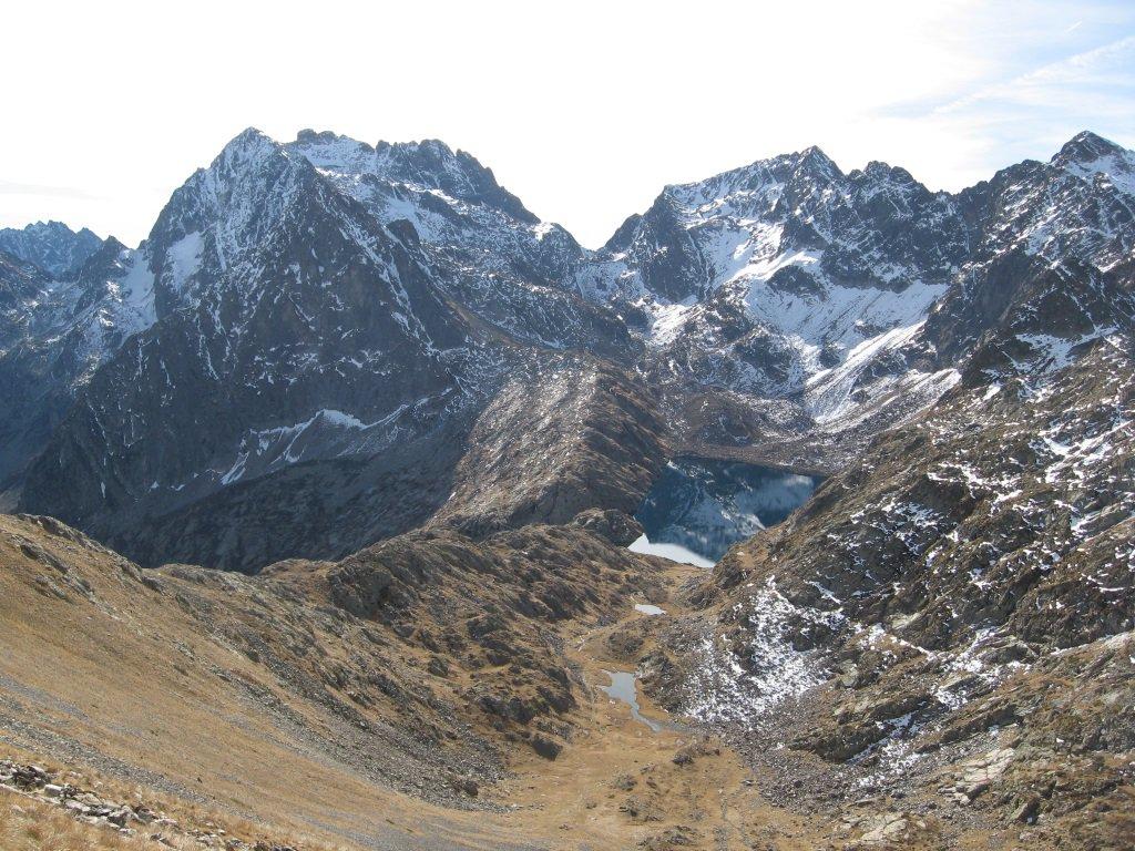 Monte Matto e lago soprano della Sella
