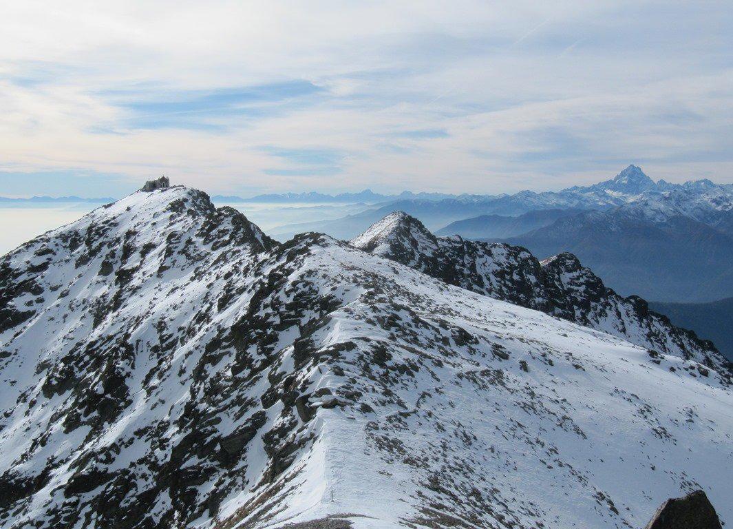bella vista della cresta che seguiremo più tardi verso il Robinet