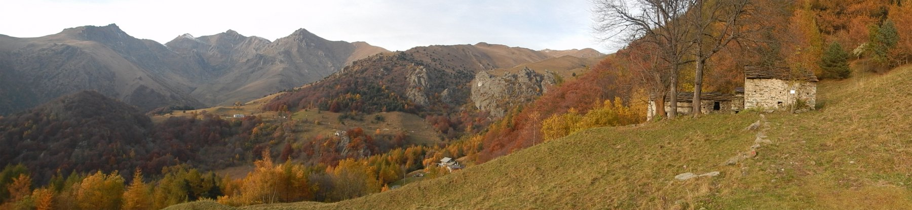 Panorama dall'alpe Goia