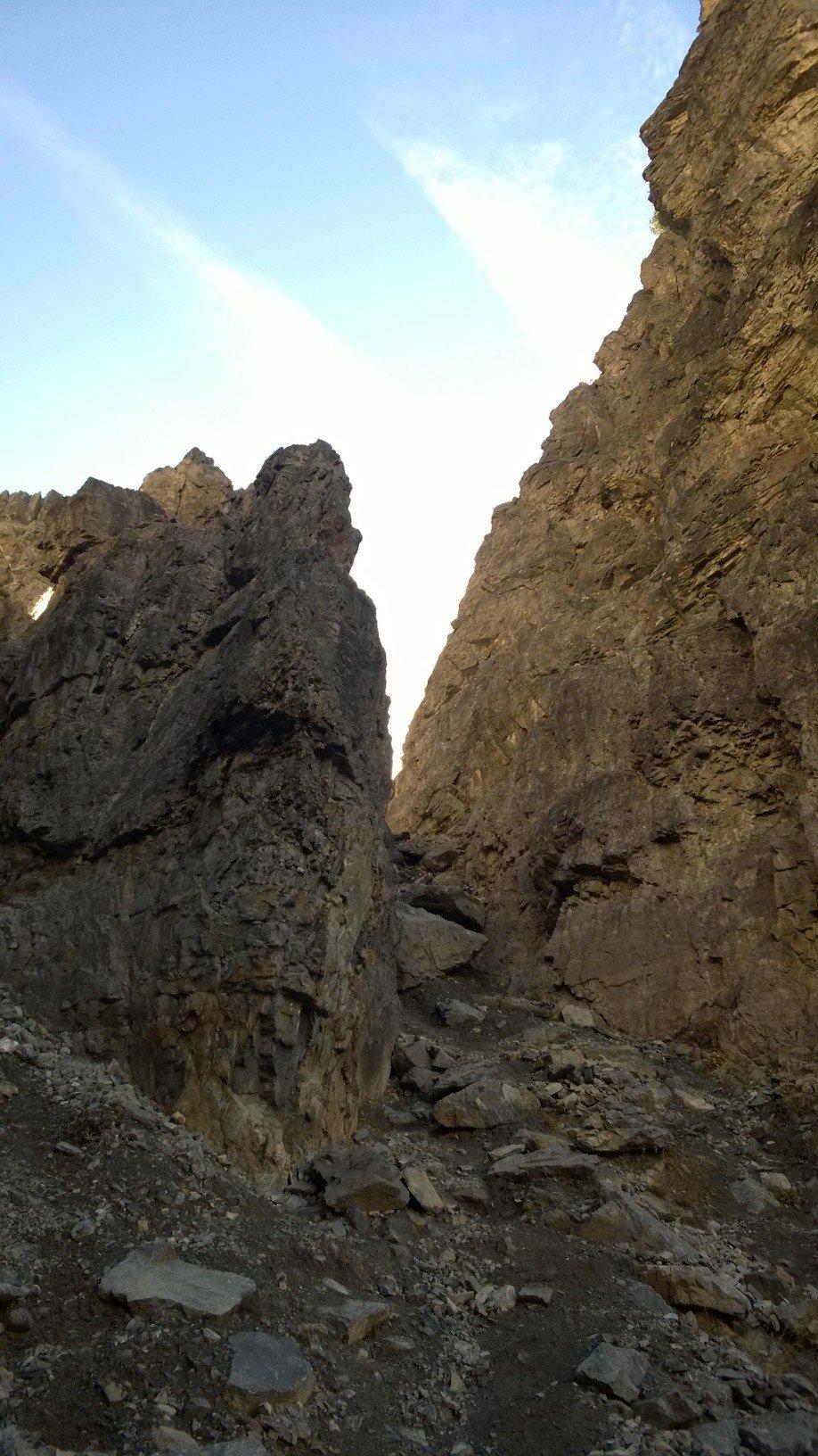 L'inizio della cresta, sulla destra