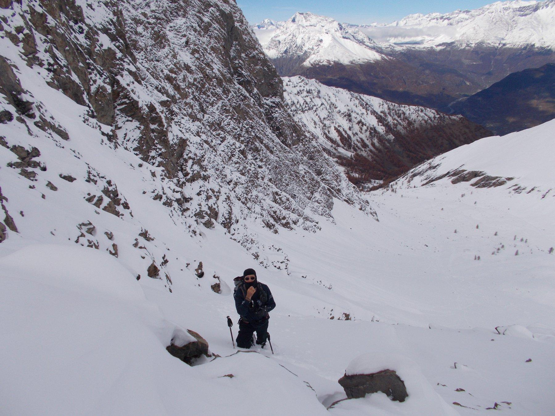 Tanta neve nel vallone dei Gran Piani..