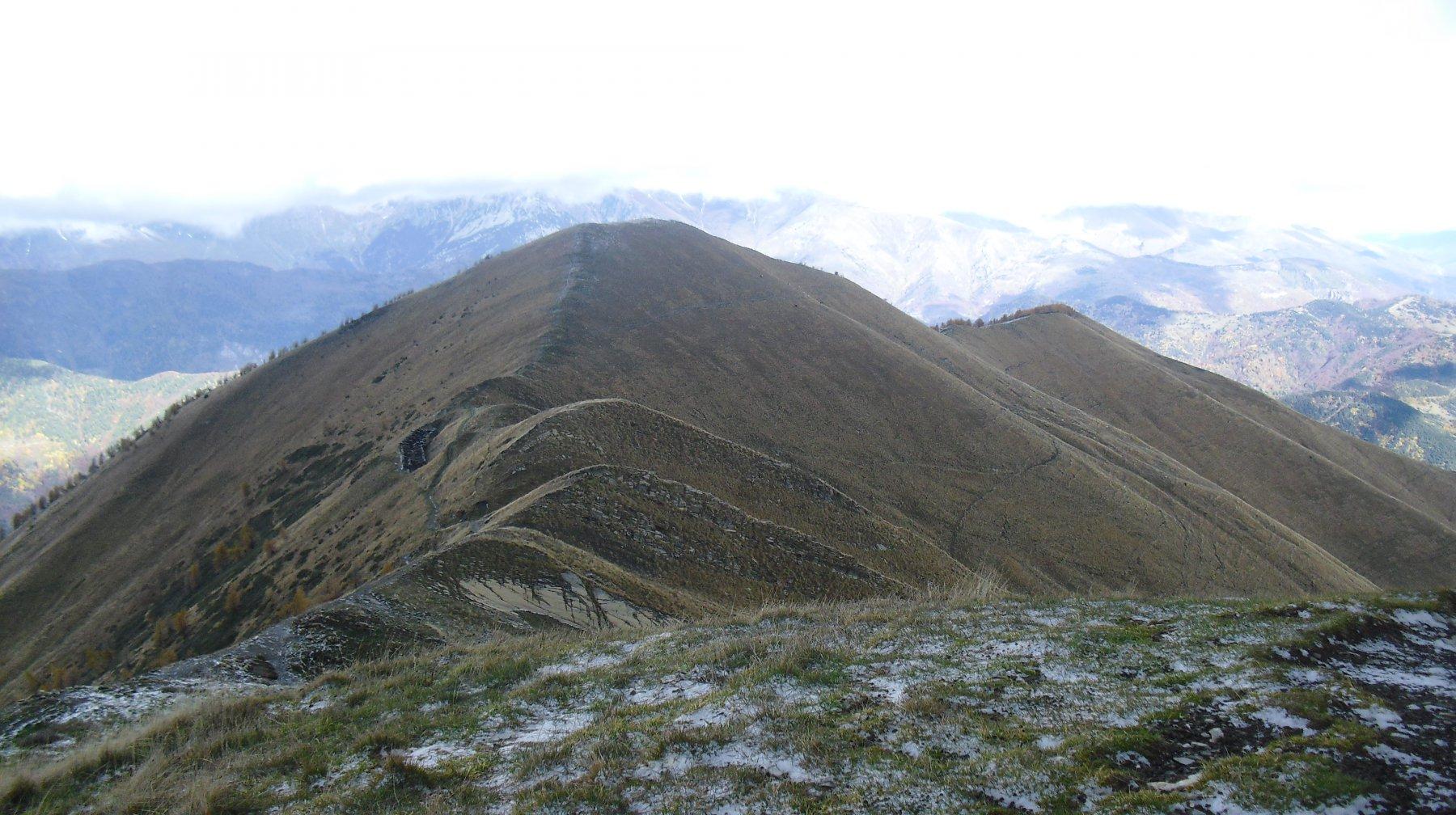 Cima Garlenda e la cresta di discesa dal Fronte'.