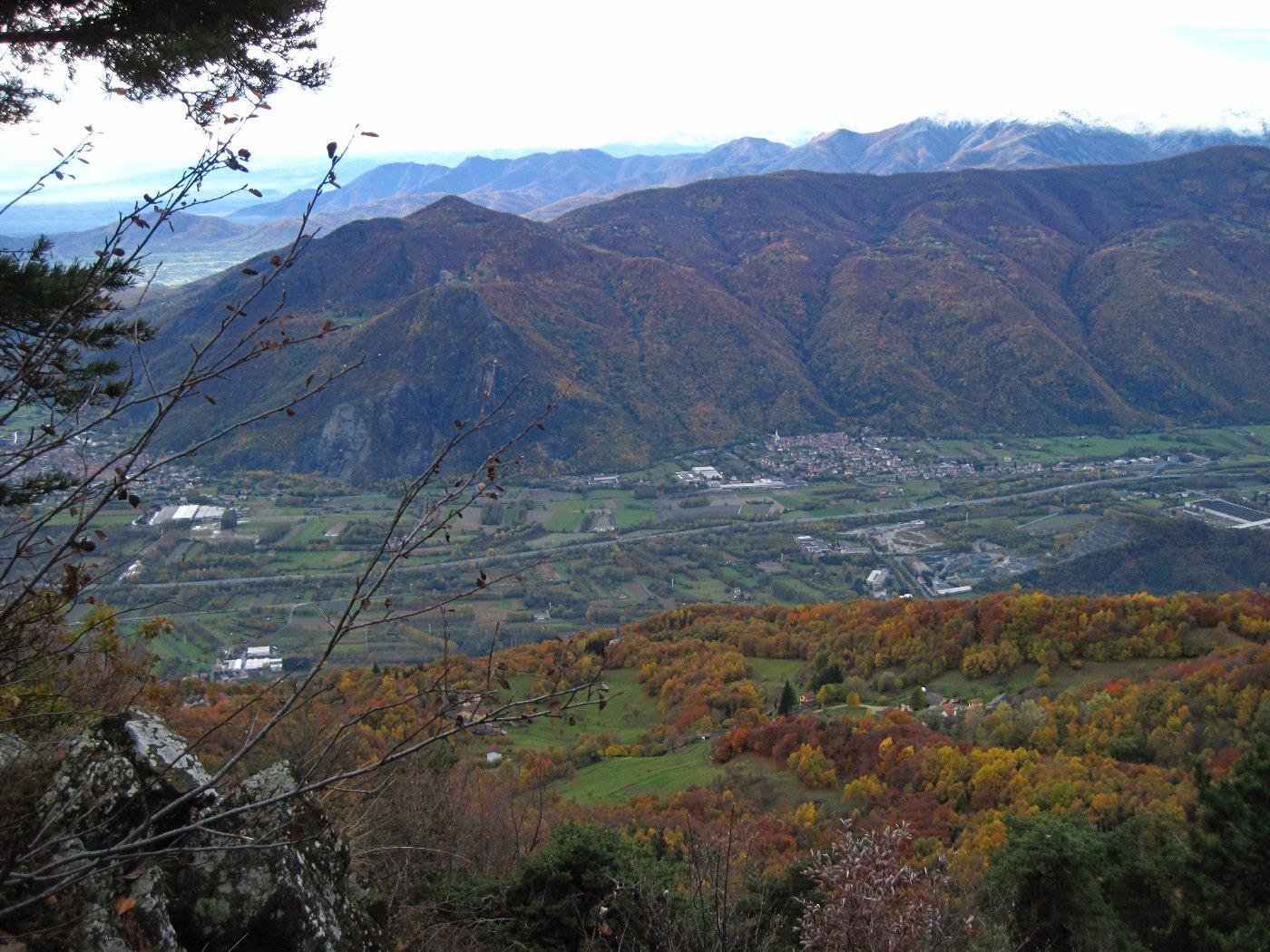 La bassa valle di Susa nei colori autunnali