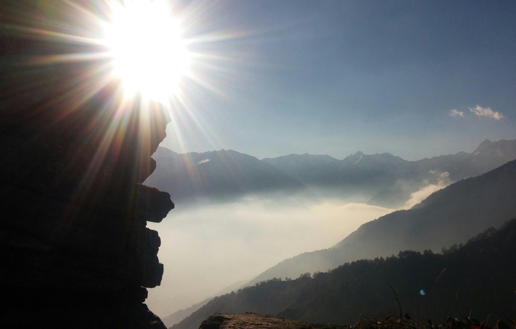 Dalla cima verso l'alta valle