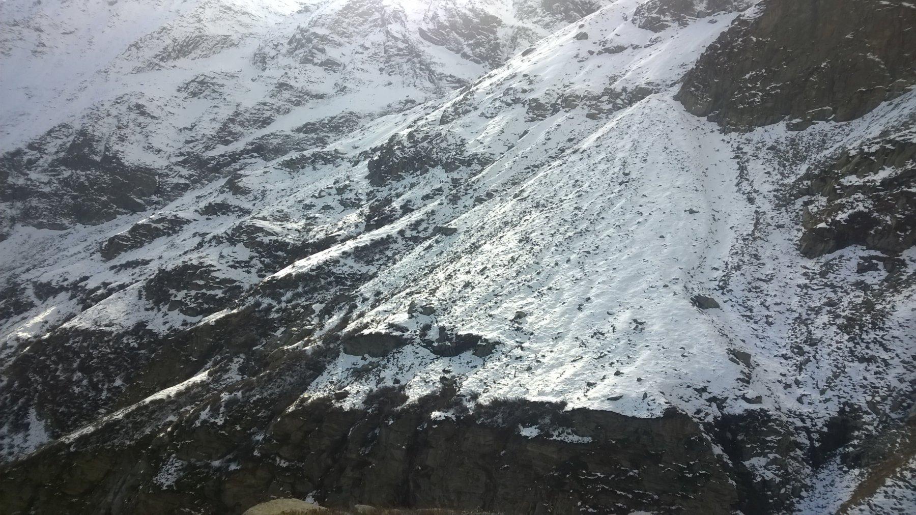 Dal Daviso sguardo sul versante del Ferreri: l'itinerario fatto.