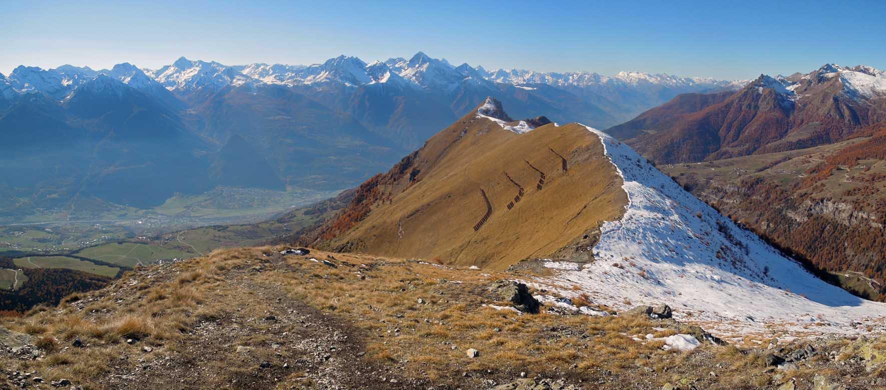 cresta per la longhede con panorama sud-ovest