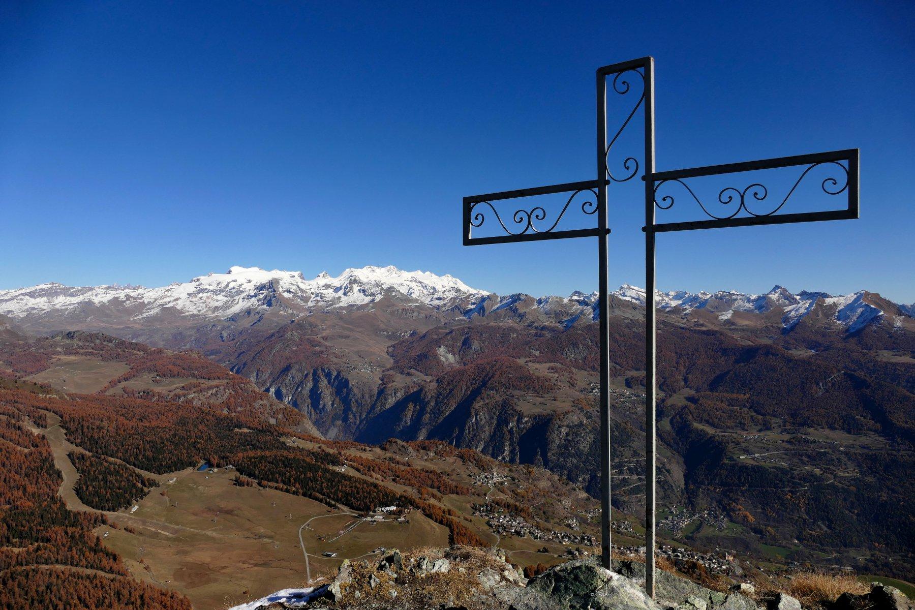 Croce di vetta e Monte Rosa (02-11-15)