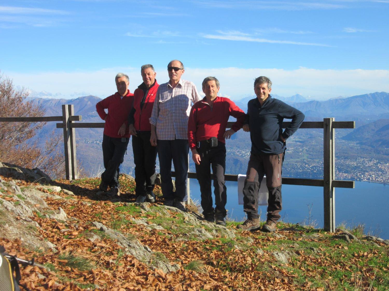 Con i compagni della gita sula Morissolo