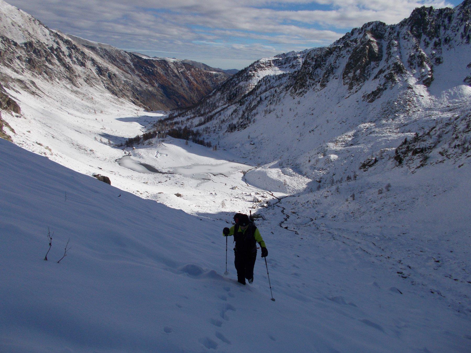 c'e' molta neve nel vallone d'Ischiator..