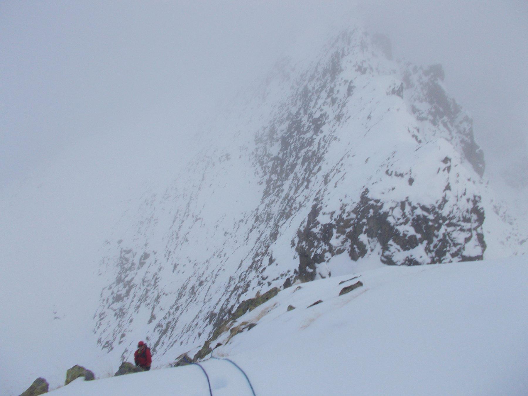 bufera improvvisa.. sulla cresta nord.est al passo di Rostagno..