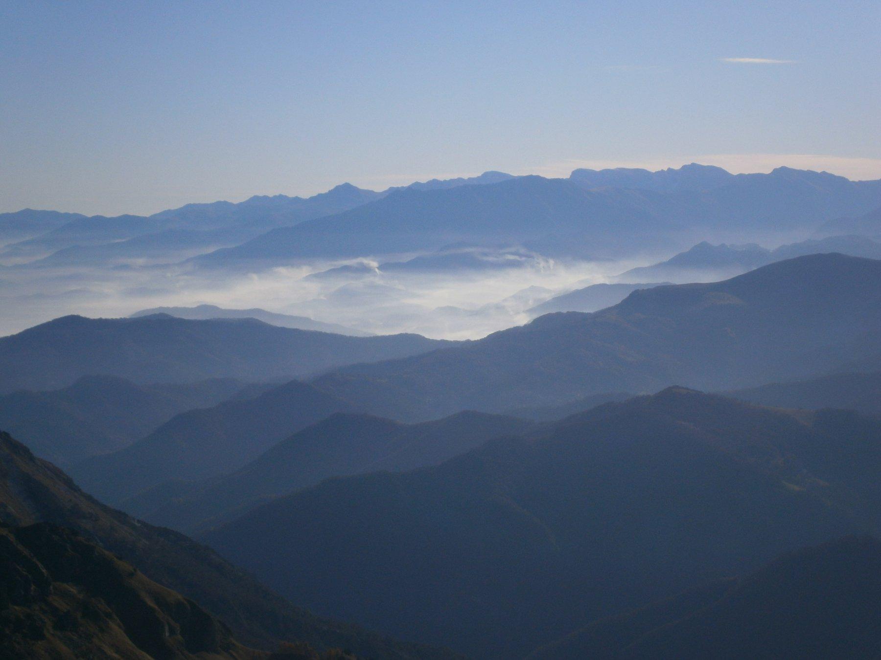 Panorama verso le Liguri