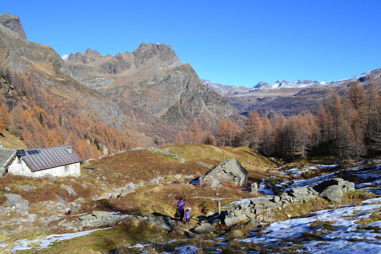 in salita dopo l'Alpe Misanco