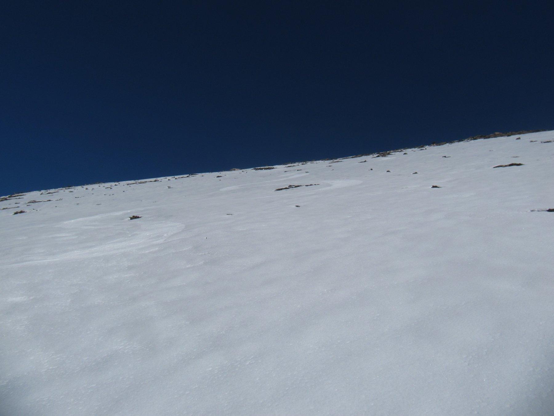 Discesa su velluto sul versante della Val Maira